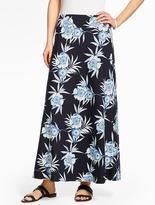 Talbots Maxi Skirt - Bali Tropical Flowers