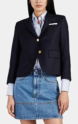 """Thom Browne Women's """"Boy"""" Wool Three-Button Blazer - Navy"""