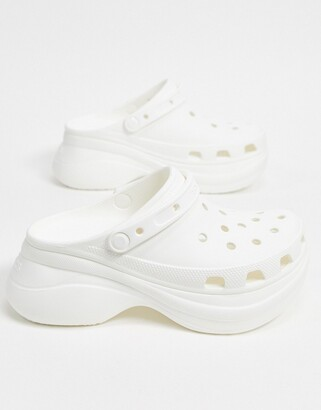 Crocs Bae platform clog in white