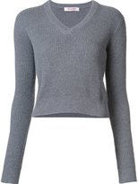 Organic by John Patrick V-neck cropped pullover
