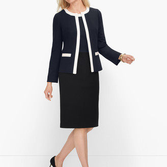 Talbots Italian Luxe Knit Tipped Jacket