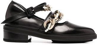 Simone Rocha Chain-Link Pointed Toe Loafers
