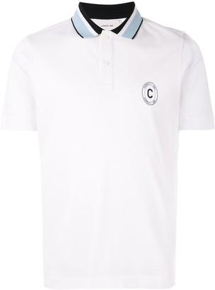 Cerruti striped collar polo shirt