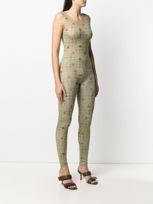 MAISIE WILEN Revenge Body orbit-print jumpsuit