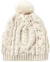 Banana Republic Chunky Mixed Stitch Beanie with Faux Fur