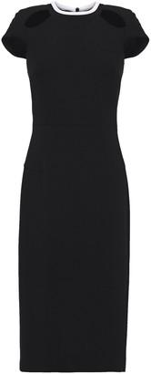 Roland Mouret Talland Cutout Wool-crepe Dress