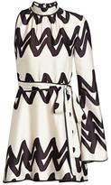 Alexis Elina One-Sleeve Printed Dress