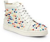 Christian Louboutin Louis Woman Studded Leather Wedge Sneakers