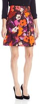 Milly Women's Floral Print Tulip Skirt