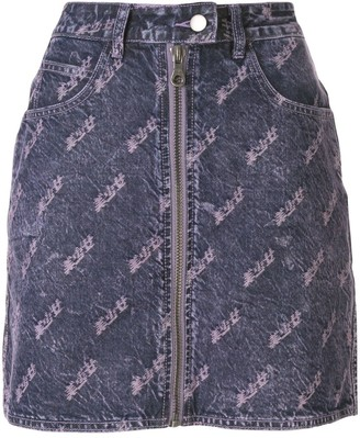 Ground Zero distressed denim skirt