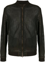 Salvatore Santoro - leather bomber jacket - men - Leather - 48