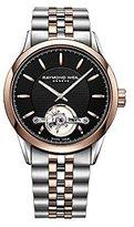 Raymond Weil 2780-SP5-20001 Freelancer Automatic open balance wheel Calibre RW1212, two-tone, black dial Men's Watch