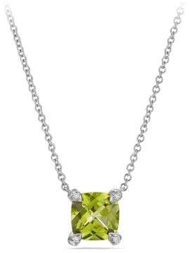 David Yurman Châtelaine Pendant Necklace With Peridot And Diamonds In