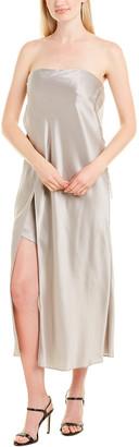 Mason by Michelle Mason Strapless Silk Caftan Dress