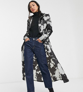 M·A·C Another Reason maxi rain mac in bleach print-Black