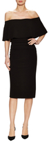 Tracy Reese Off Shoulder Flounce Sheath Dress