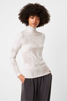 French Connection Zayne Tie-Dye Jersey Roll Neck Top