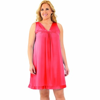 Exquisite Form Women's Sleep Coloratura Sleeveless Short Gown