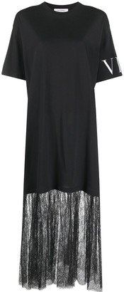 Valentino VLTN lace panelling T-shirt dress