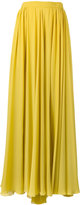 Elie Saab pleated slit maxi skirt - women - Silk - 38