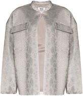 Maisie Wilen oversized snake-print leather jacket