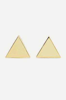 Jennifer Meyer Mini Triangle 18-karat Gold Earrings