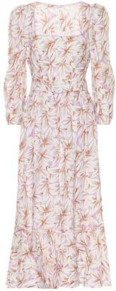 Jonathan Simkhai Ella floral linen-blend midi dress