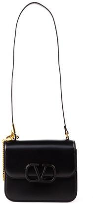 Valentino Vlogo Black Leather Shoulder Bag