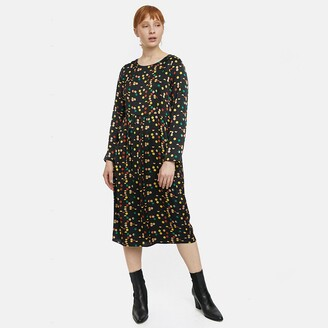 Compania Fantastica Printed Midi Dress with Long Sleeves