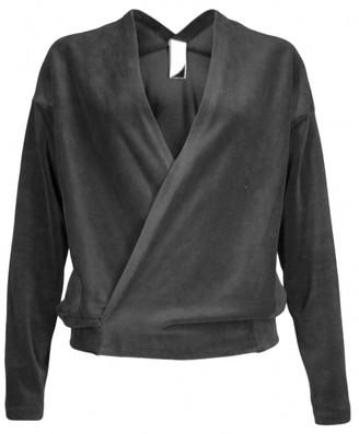 Format NOSH Black Velours Long Sleeve Top - S - Black