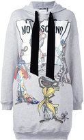Moschino Rat-A-Porter hoodie dress - women - Silk/Cotton - 38