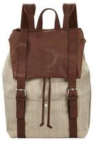 Brunello Cucinelli Men's Canvas & Leather Backpack, Beige