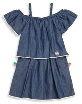Andy & Evan Little Girl's & Girl's Denim Off-the-Shoulder Dress