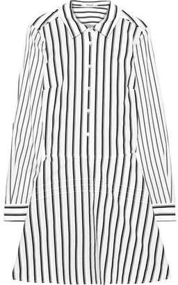 Derek Lam 10 Crosby Striped Cotton-poplin Mini Shirt Dress