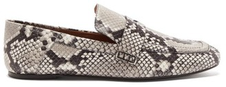 Joseph Collapsible-heel Python-print Leather Loafers - Python