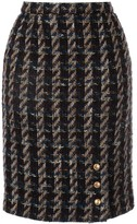 Chanel Pre Owned tweed pencil skirt