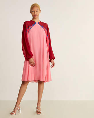 Giamba Color Block Shirt Dress