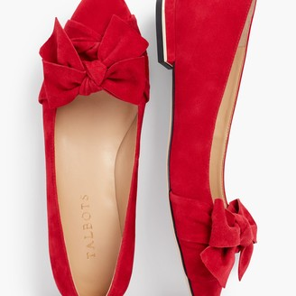 Talbots Edison Wrapped Bow Flats - Suede