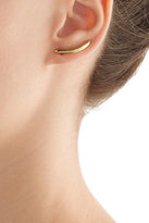 Jennifer Fisher Curved Cylinder 14kt Yellow Gold Plated Earrings