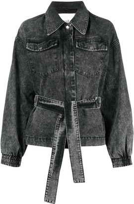 BA&SH Jacky belted denim jacket