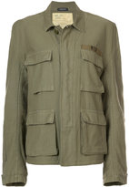 R 13 fleece lined military jacket