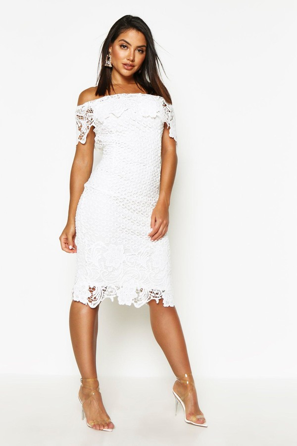 f2d7e05c526c8 boohoo White Off The Shoulder Dresses - ShopStyle