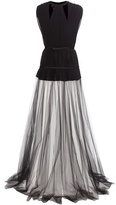 Giambattista Valli Pleated Silk-crêpe And Tulle Dress
