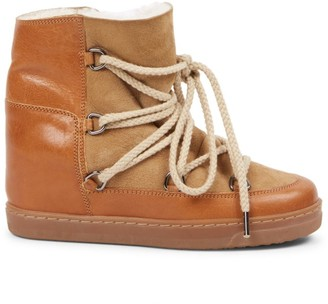 Isabel Marant Nowles Shearling-Lined Suede & Leather Boots