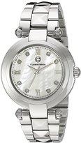 Cabochon Women's 16088-22 Cairo Analog Display Quartz Silver Watch