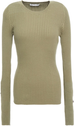 Autumn Cashmere Ribbed Cotton-blend Sweater