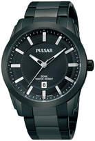 Pulsar Mens Black Ion-Plated Bracelet Watch PH9017