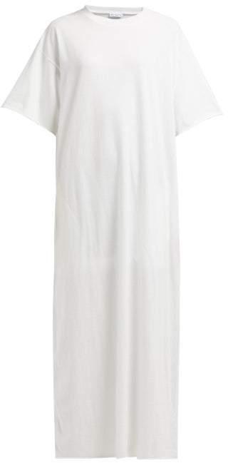 Raey Jersey Maxi T Shirt Dress - Womens - White