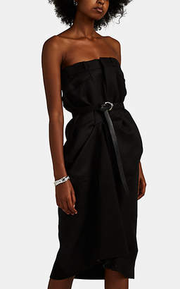Maison Margiela Women's Mixed-Media Mock-Trouser Dress - Black
