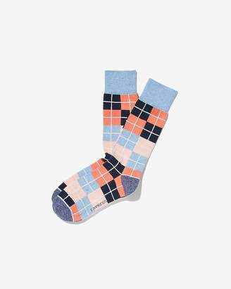Express Striped Check Dress Socks